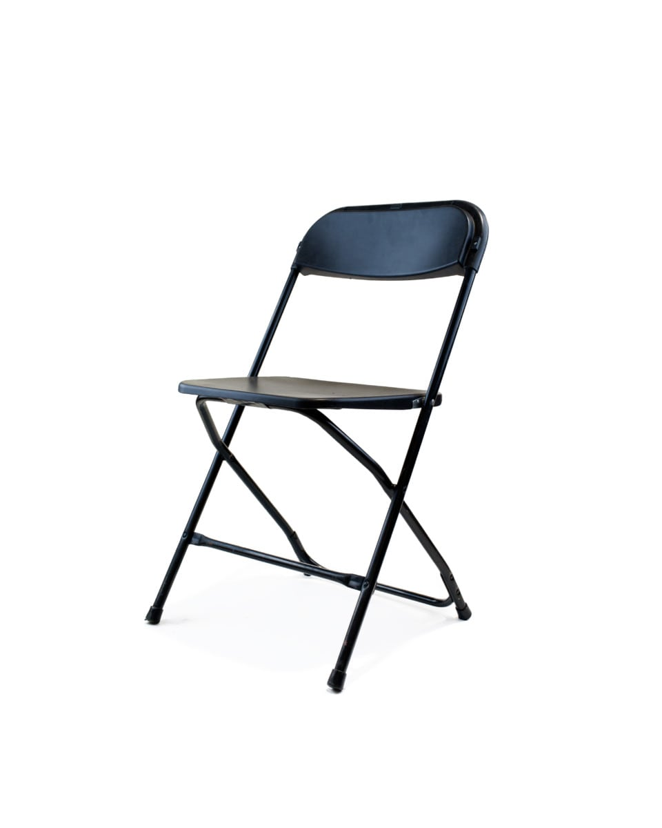 White plastic folding chairs - Prev