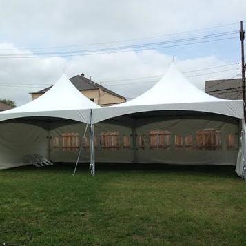 prev & High Peak Tent 20u2032 x 40u2032 $600.00 | Party Rentals Delivered